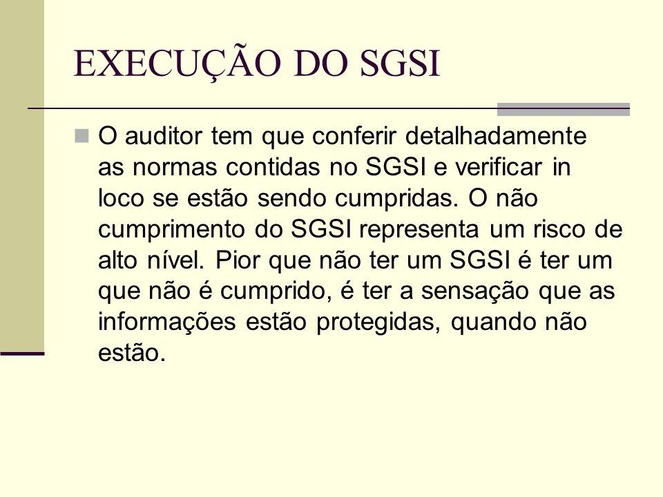 EXECUÇÃO DO SGSI