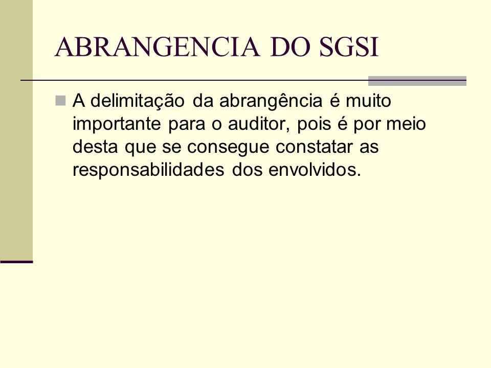 ABRANGENCIA DO SGSI