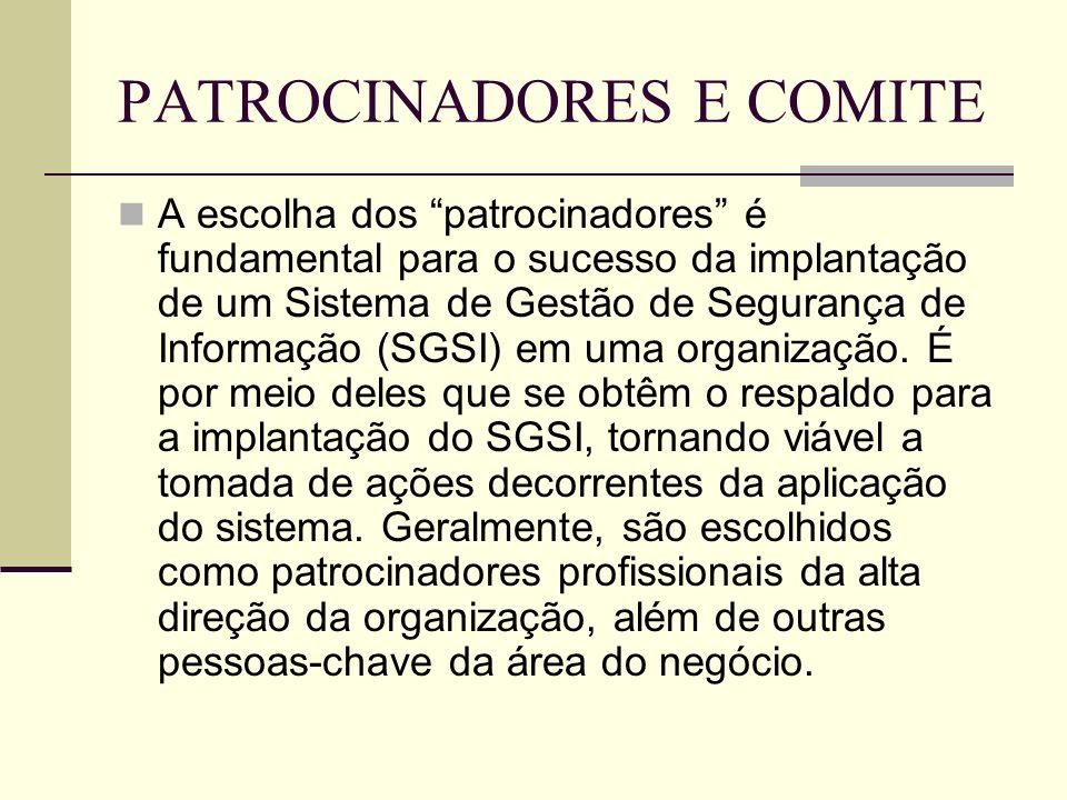 PATROCINADORES E COMITE