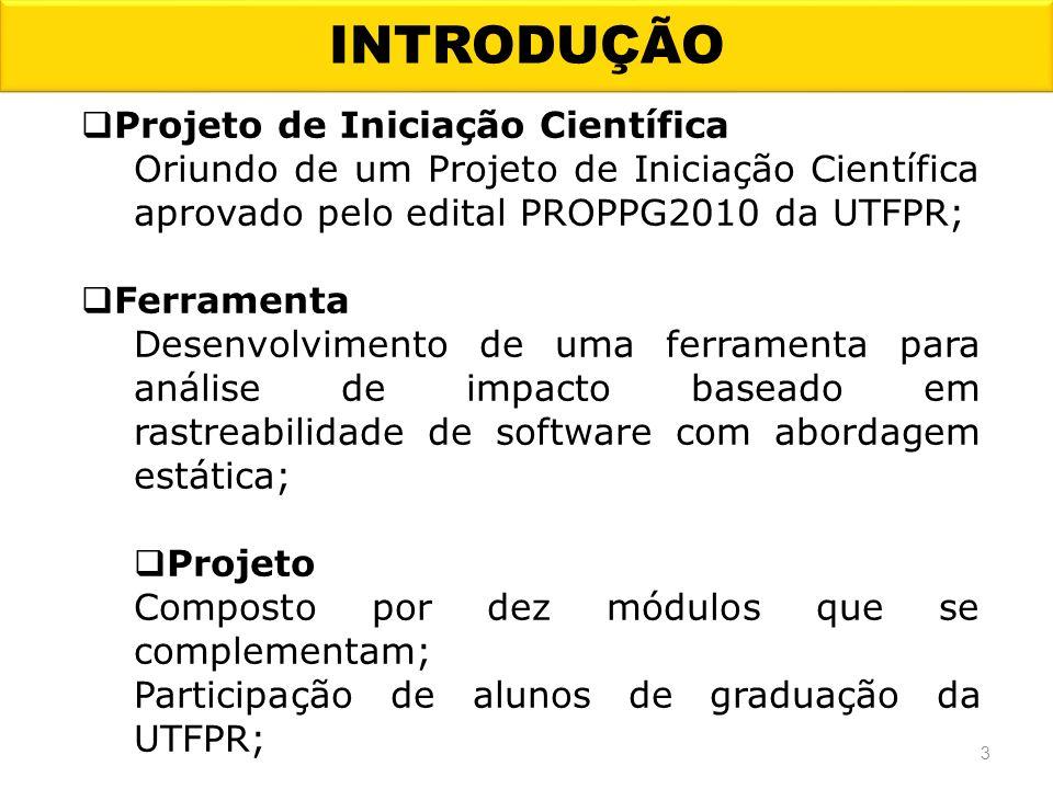 INTRODUÇÃO Projeto de Iniciação Científica