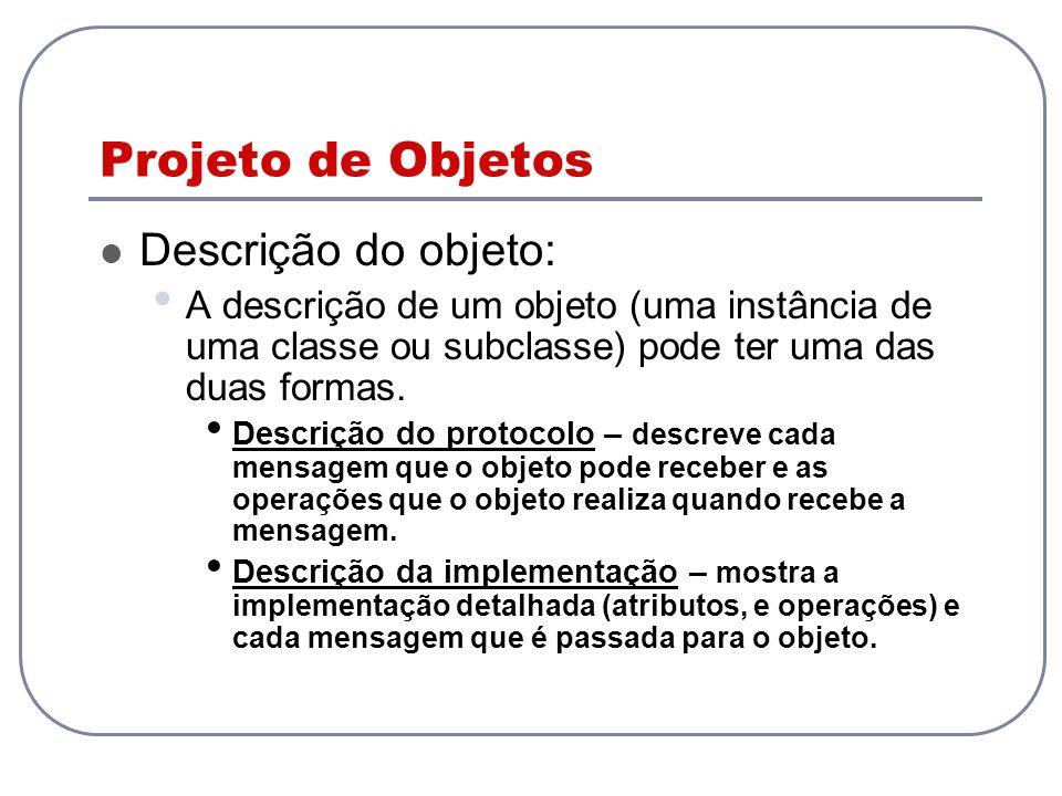 Projeto de Objetos Descrição do objeto: