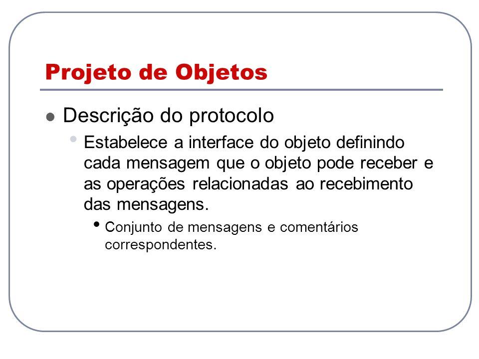 Projeto de Objetos Descrição do protocolo