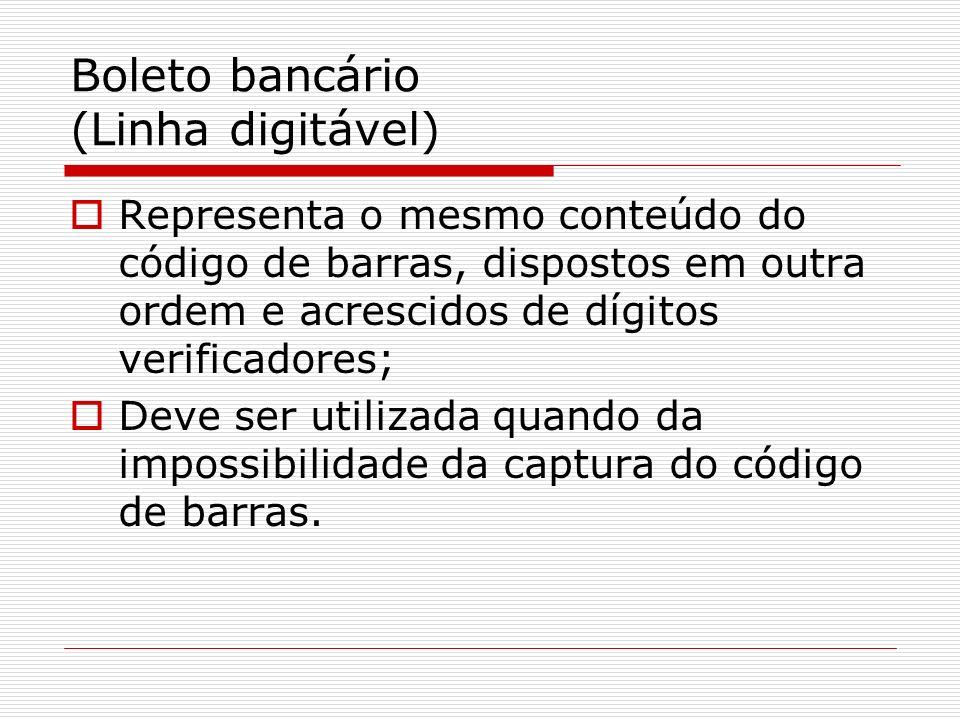 Boleto bancário (Linha digitável)