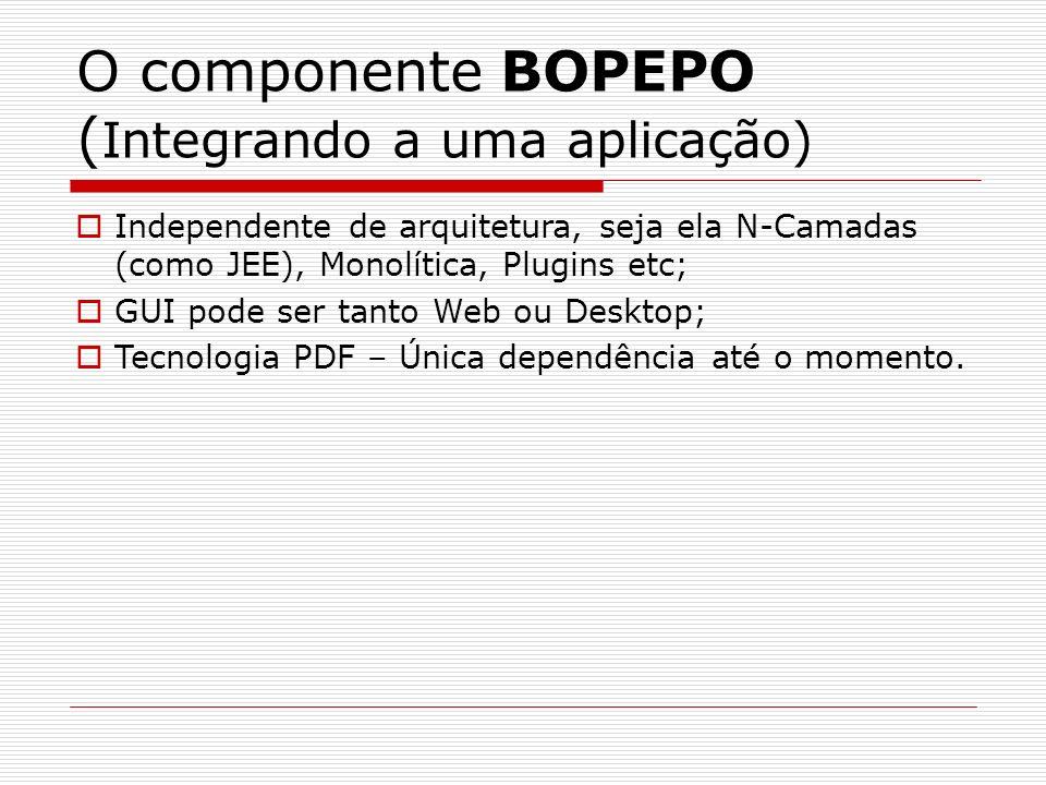 O componente BOPEPO (Integrando a uma aplicação)