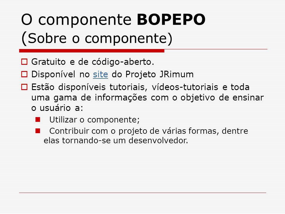 O componente BOPEPO (Sobre o componente)