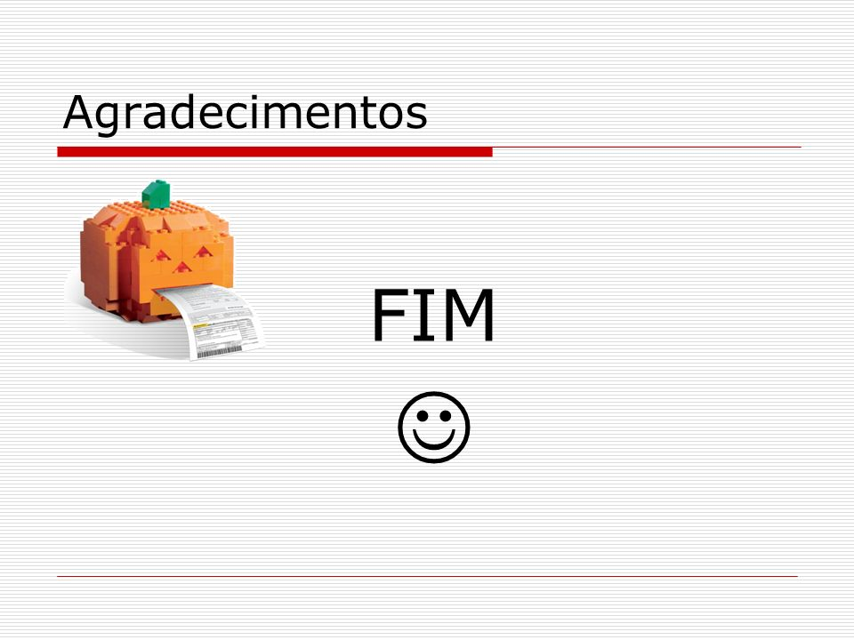 Agradecimentos FIM 