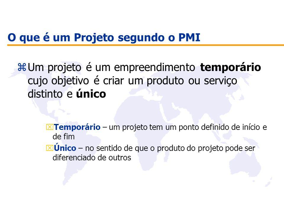 O que é um Projeto segundo o PMI