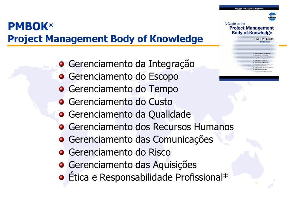 PMBOK Project Management Body of Knowledge