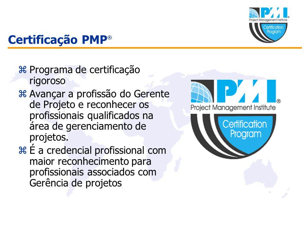 Certificação PMP® Programa de certificação rigoroso