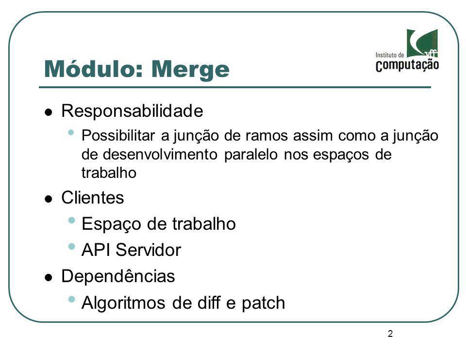 Módulo: Merge Responsabilidade Clientes Espaço de trabalho