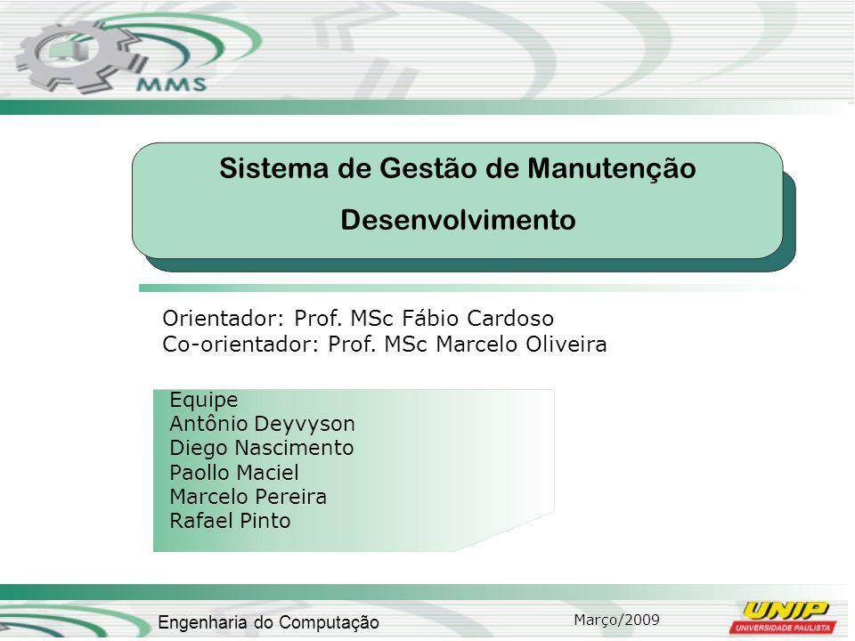 Sistema de Gestão de Manutenção