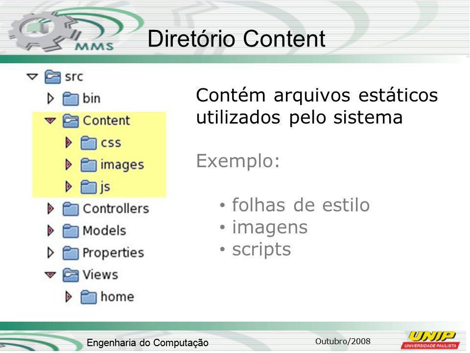 Diretório Content Contém arquivos estáticos utilizados pelo sistema