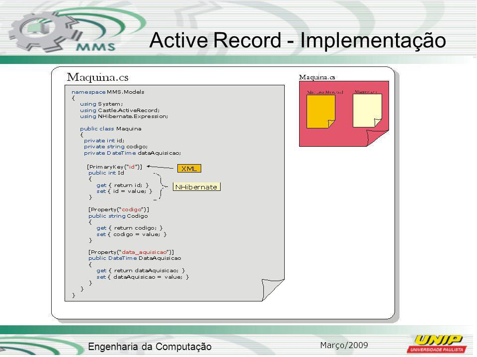 Active Record - Implementação