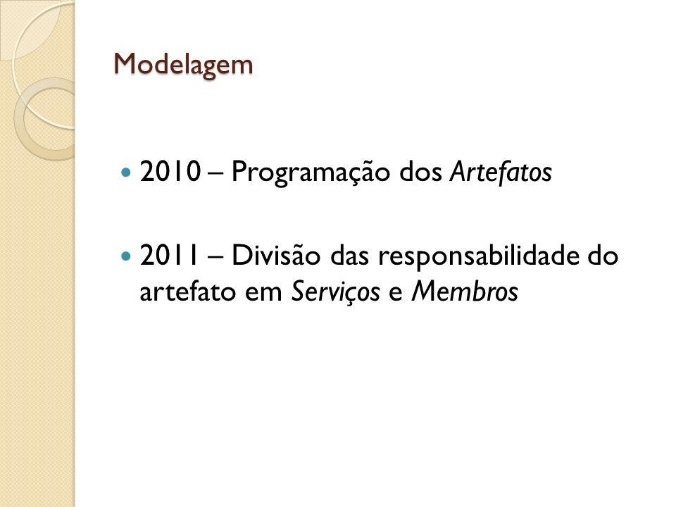 2010 – Programação dos Artefatos