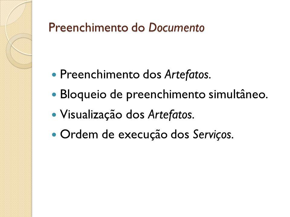 Preenchimento do Documento
