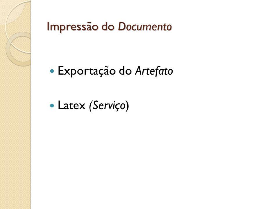 Impressão do Documento