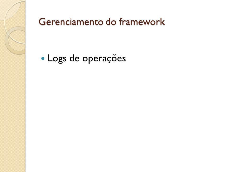 Gerenciamento do framework