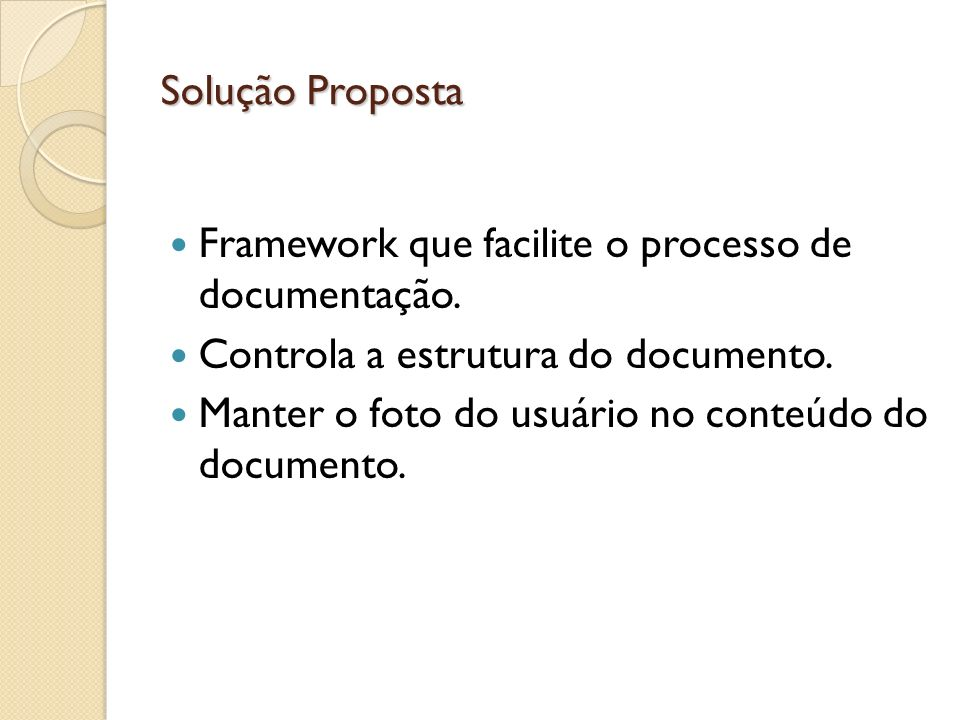 Framework que facilite o processo de documentação.