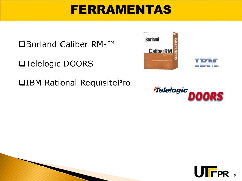 FERRAMENTAS Borland Caliber RM-™ Telelogic DOORS