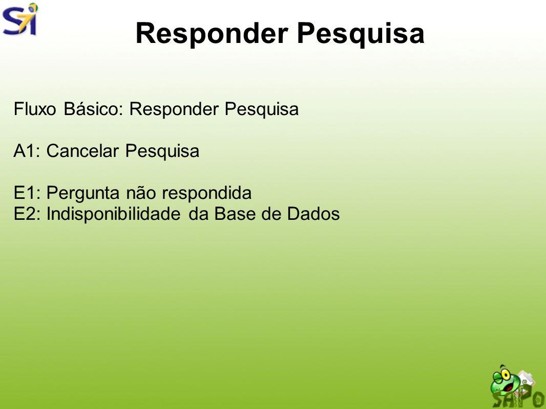 Responder Pesquisa Fluxo Básico: Responder Pesquisa