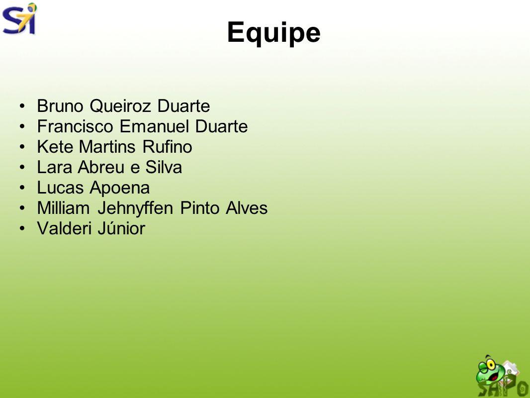 Equipe Bruno Queiroz Duarte Francisco Emanuel Duarte