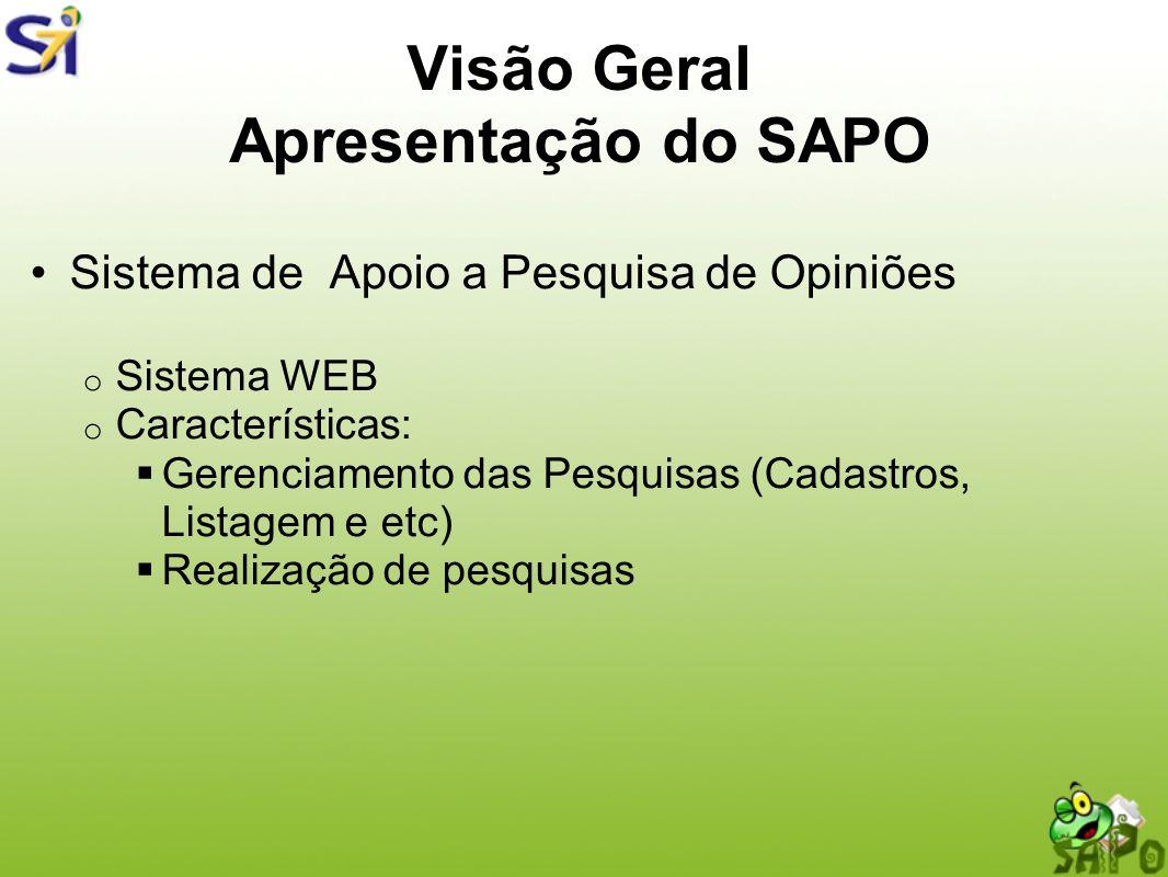 Visão Geral Apresentação do SAPO