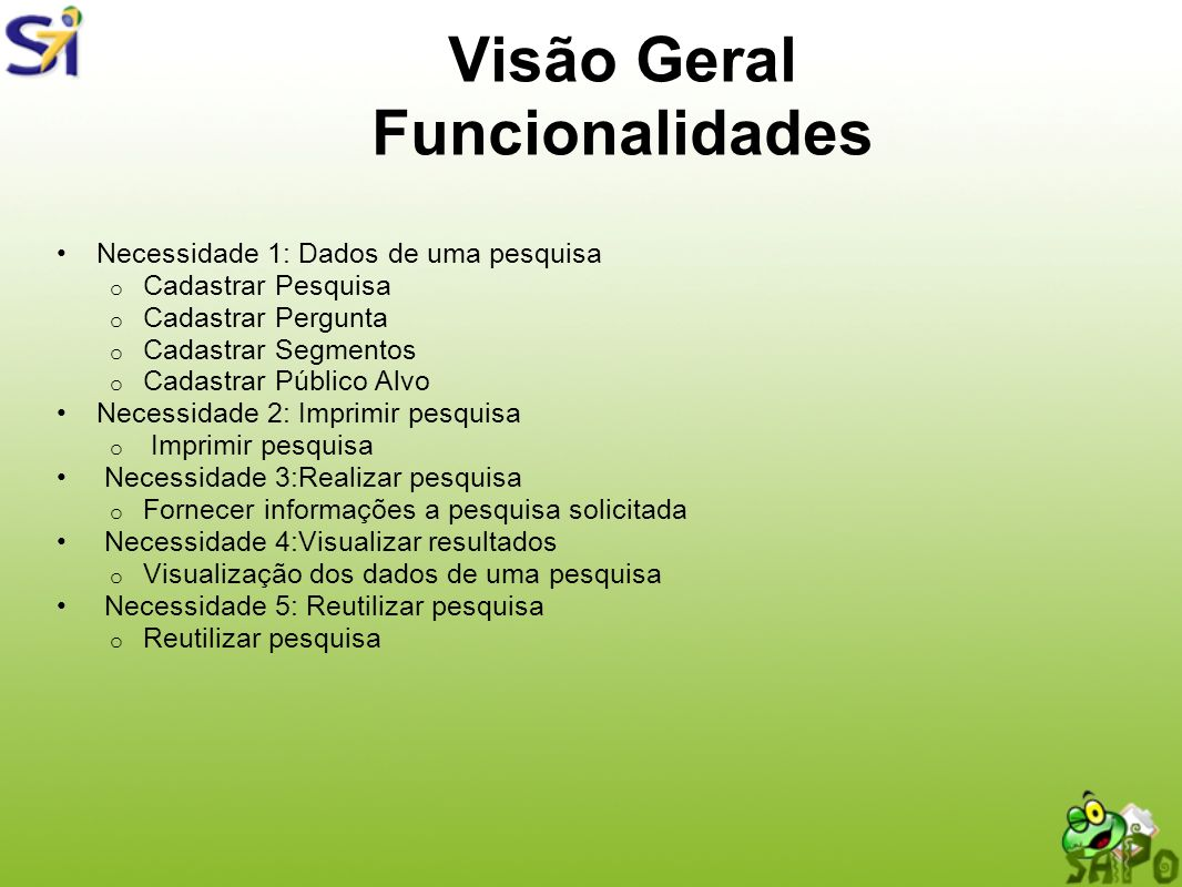 Visão Geral Funcionalidades
