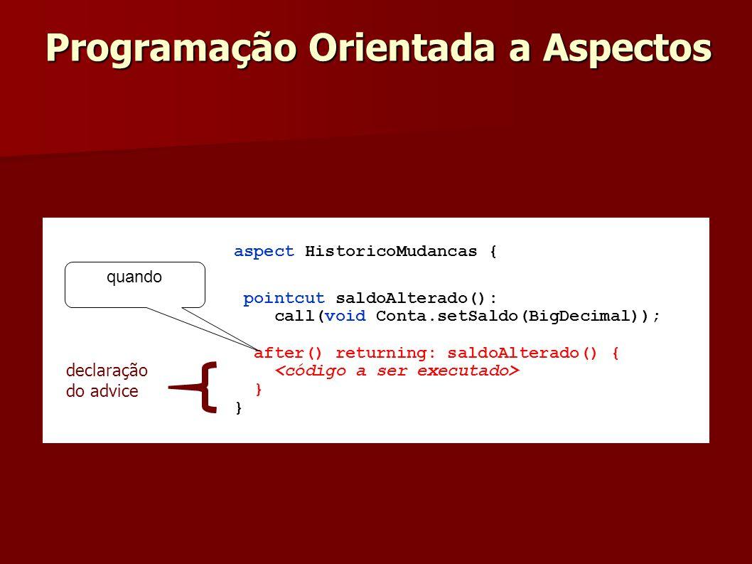 Programação Orientada a Aspectos