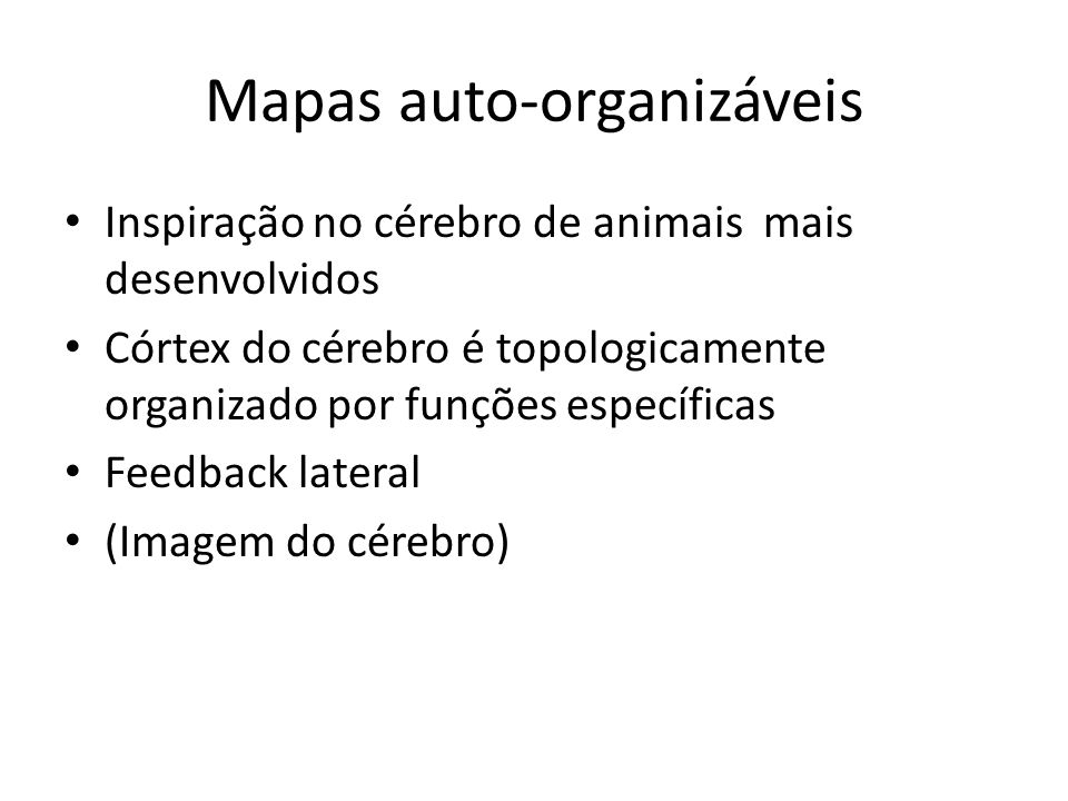 Mapas auto-organizáveis