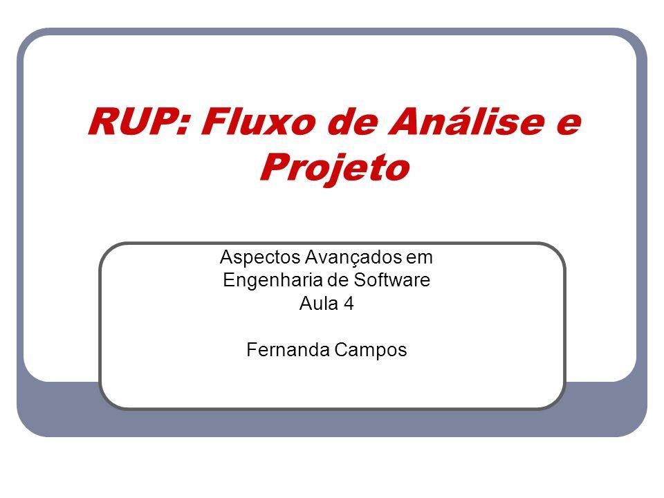 RUP: Fluxo de Análise e Projeto
