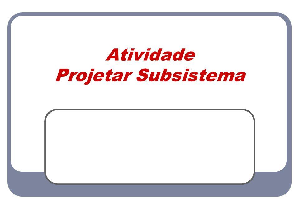 Atividade Projetar Subsistema