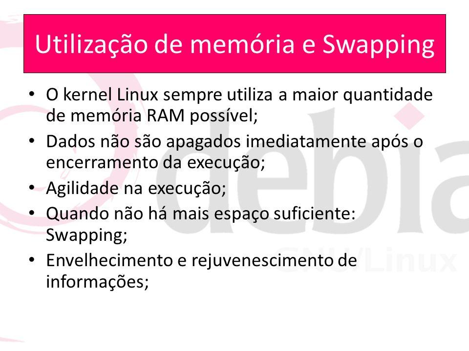 Utilização de memória e Swapping