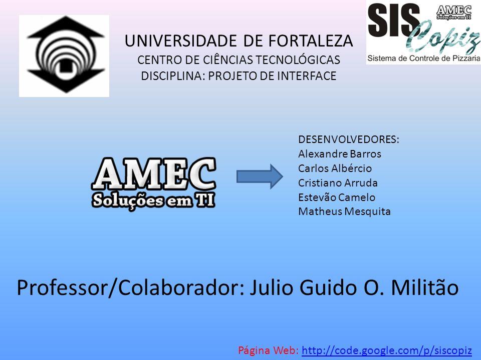 Professor/Colaborador: Julio Guido O. Militão