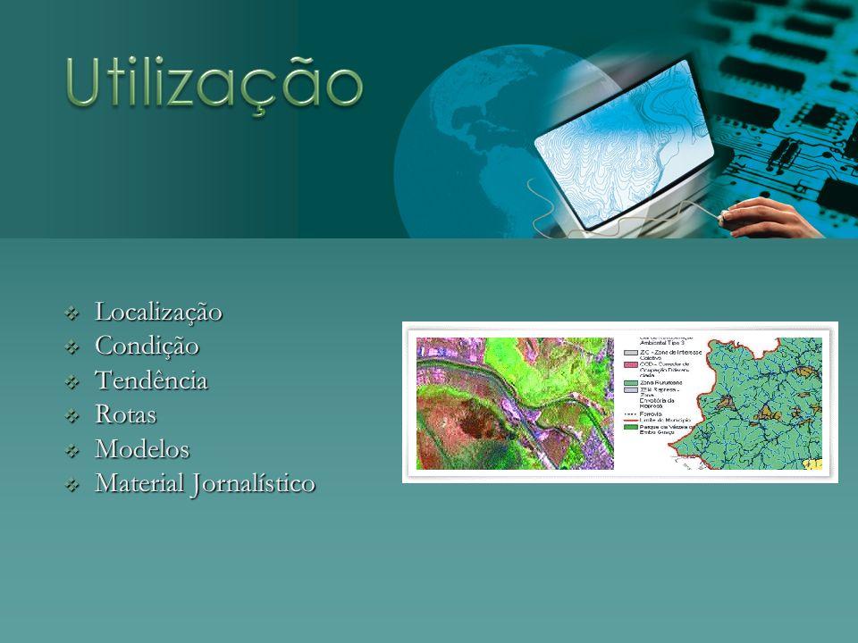 Utilização Localização Condição Tendência Rotas Modelos