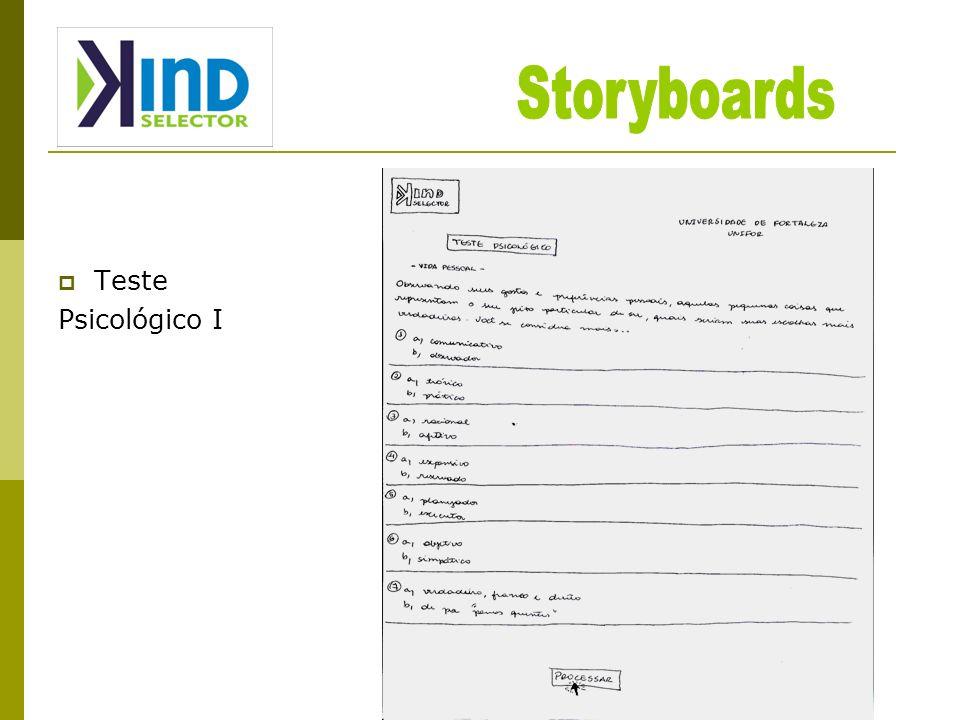 Storyboards Teste Psicológico I