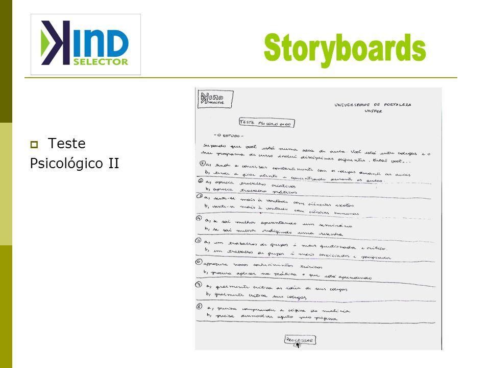 Storyboards Teste Psicológico II