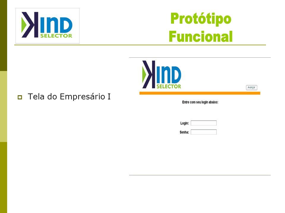 Protótipo Funcional Tela do Empresário I
