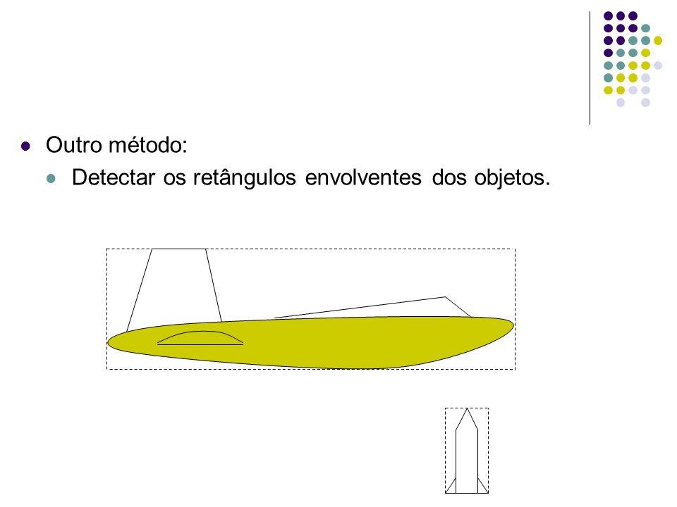 Outro método: Detectar os retângulos envolventes dos objetos.