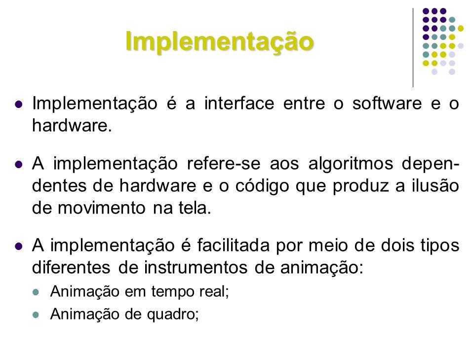 Implementação Implementação é a interface entre o software e o hardware.