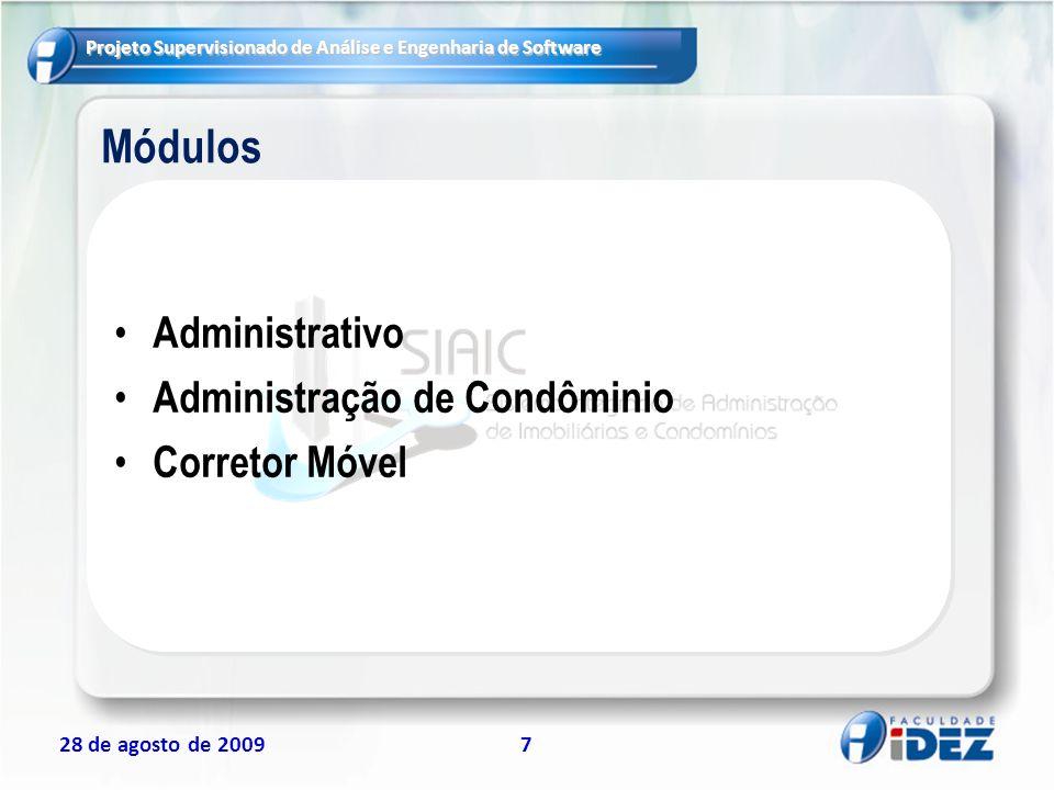 Módulos Administrativo Administração de Condôminio Corretor Móvel 7