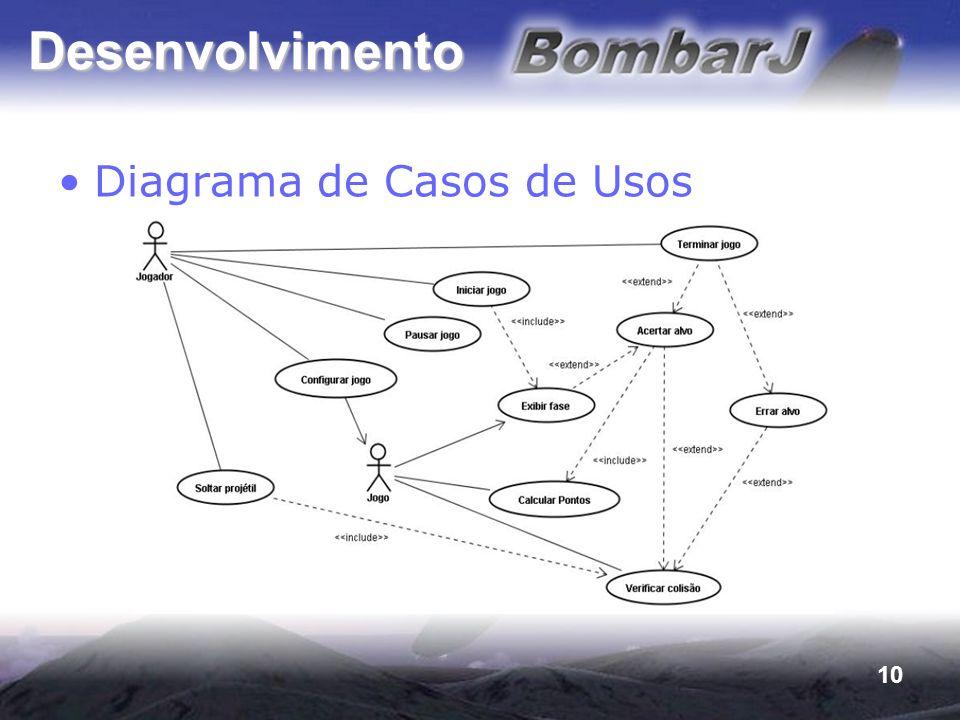 Desenvolvimento Diagrama de Casos de Usos