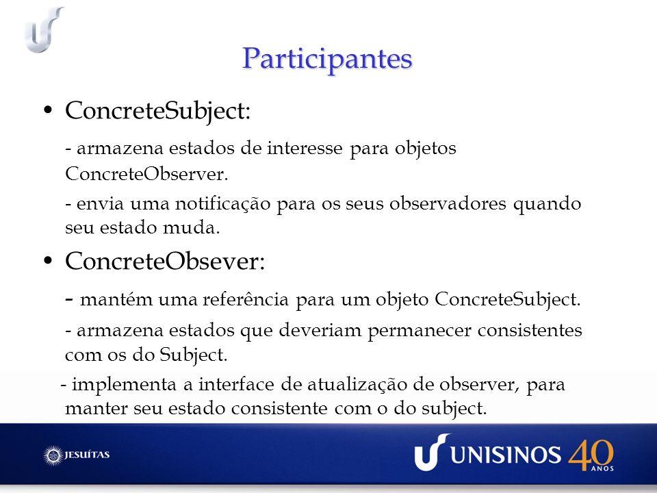 Participantes ConcreteSubject: