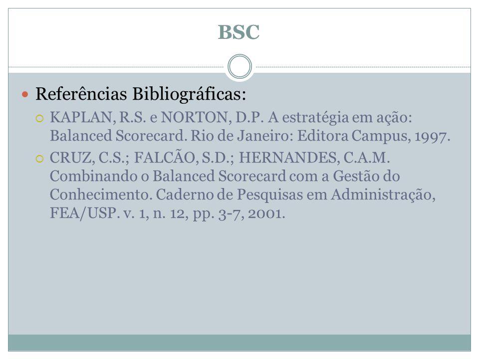 BSC Referências Bibliográficas: