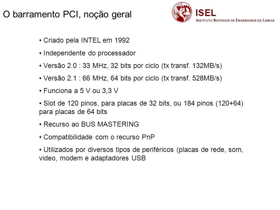 O barramento PCI, noção geral