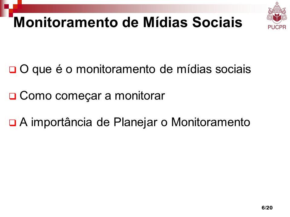 Monitoramento de Mídias Sociais