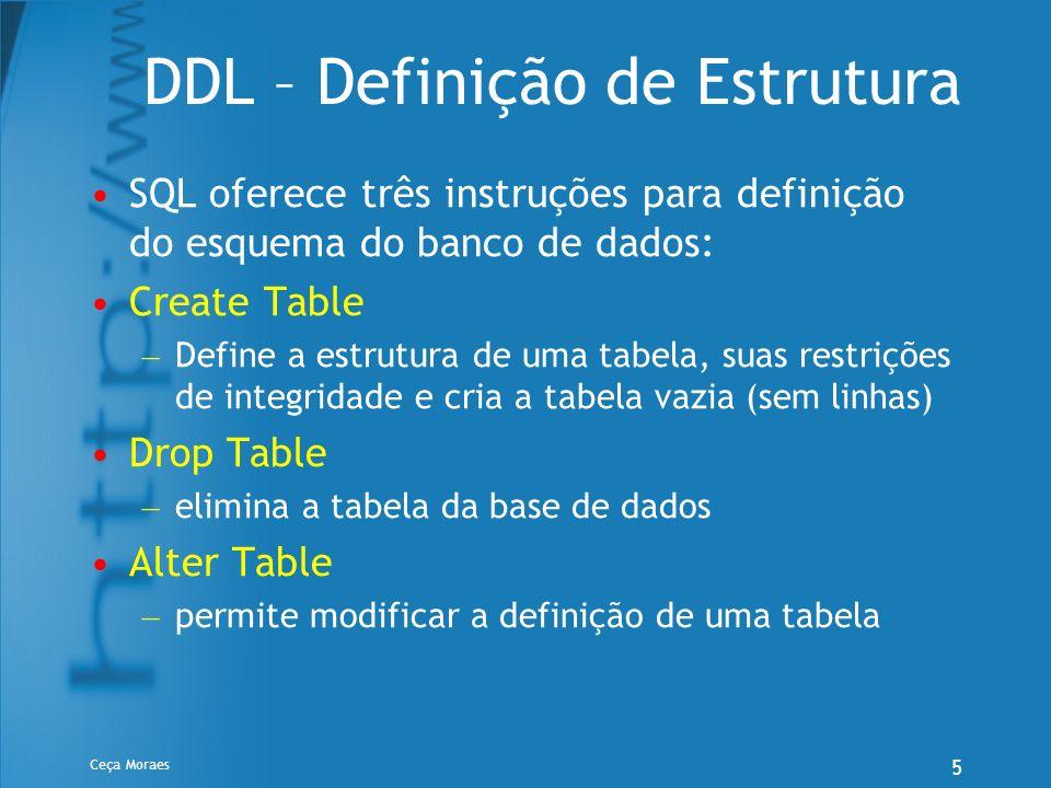 DDL – Definição de Estrutura