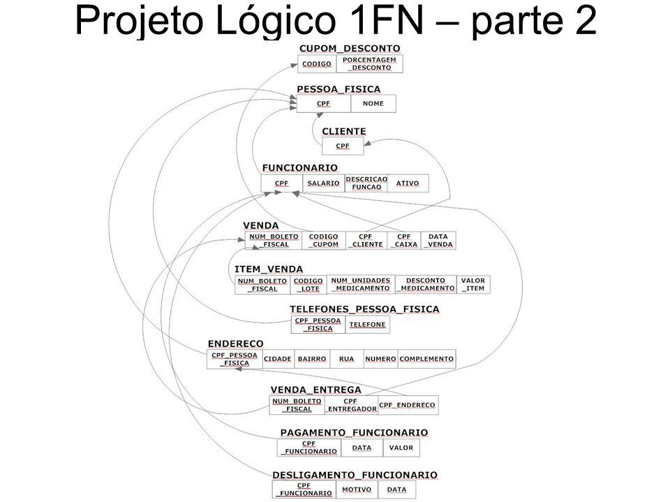 Projeto Lógico 1FN – parte 2