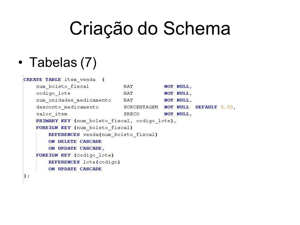 Criação do Schema Tabelas (7)