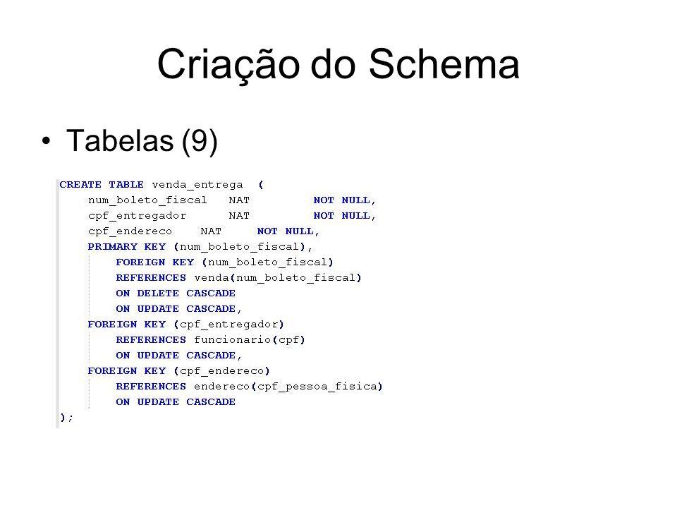Criação do Schema Tabelas (9)