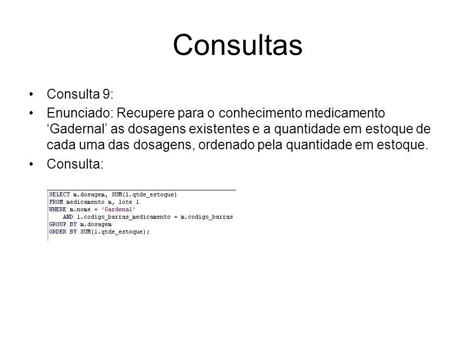 Consultas Consulta 9: